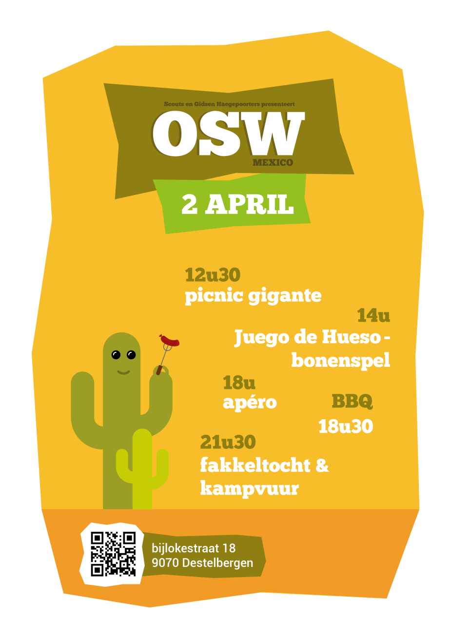 WVD | Affiche Open Scouts Weekend '16 - Scouts & Gidsen Haegepoorters